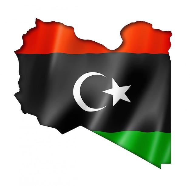 Mapa de la bandera de libia