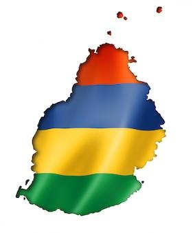 Mapa de la bandera de mauricio