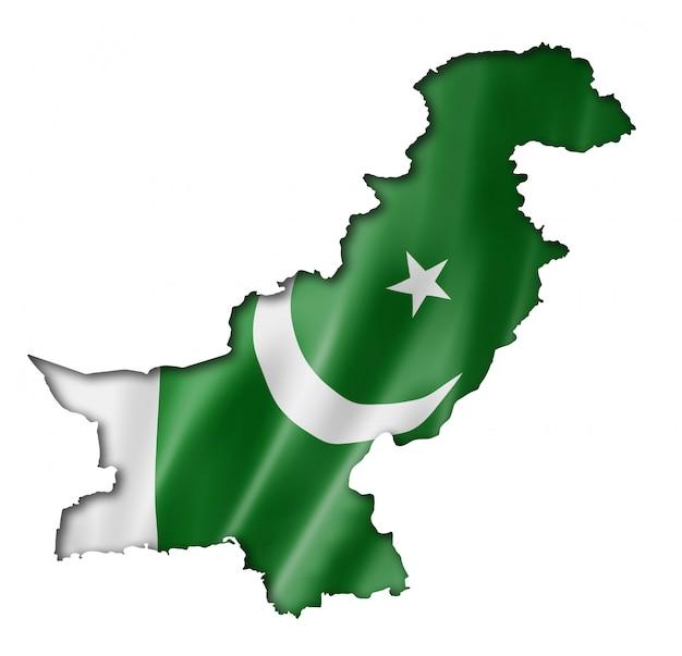 Mapa de la bandera de pakistán