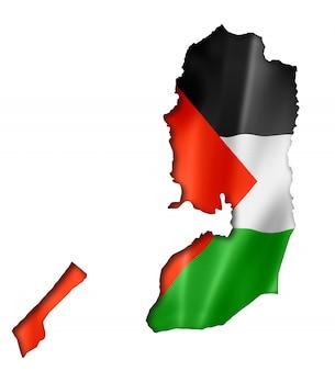 Mapa de la bandera palestina