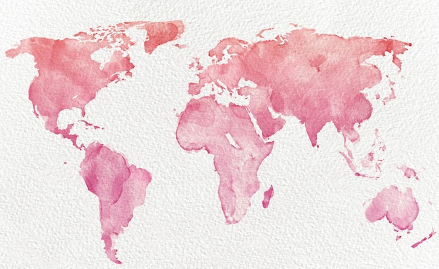 Mapa del mundo de acuarela
