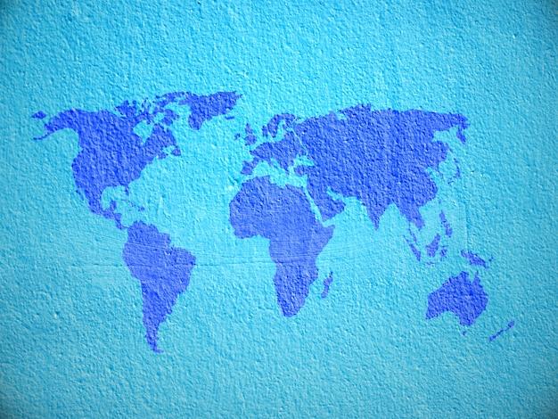 Mapa del mundo concreto grunge
