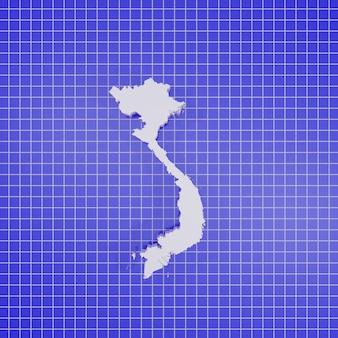 Mapa de renderizado 3d vietnam