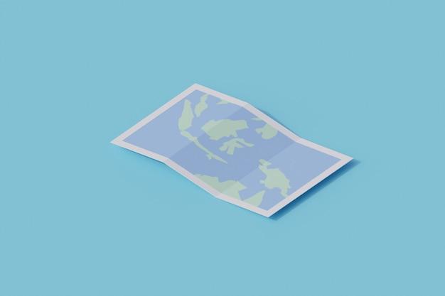 Mapas de un solo objeto aislado. representación 3d
