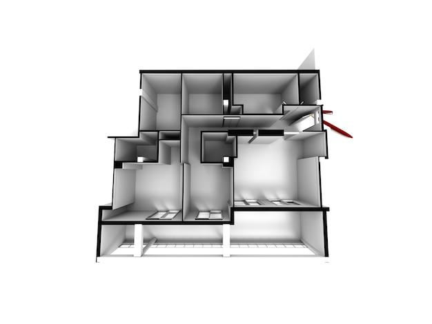 Maqueta arquitectónica de una casa
