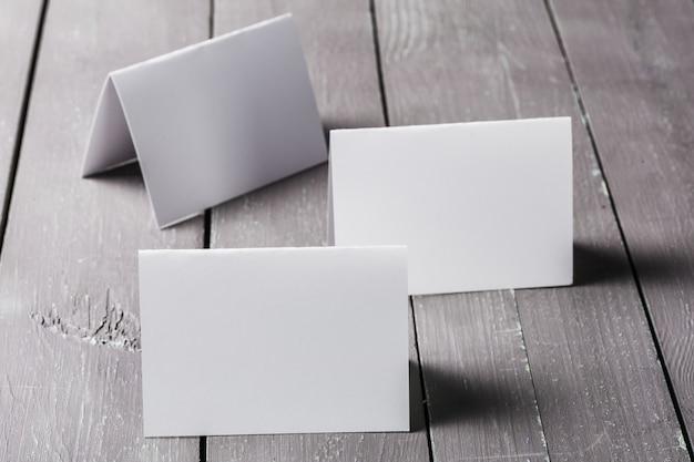 Maqueta en blanco de tarjetas de visita