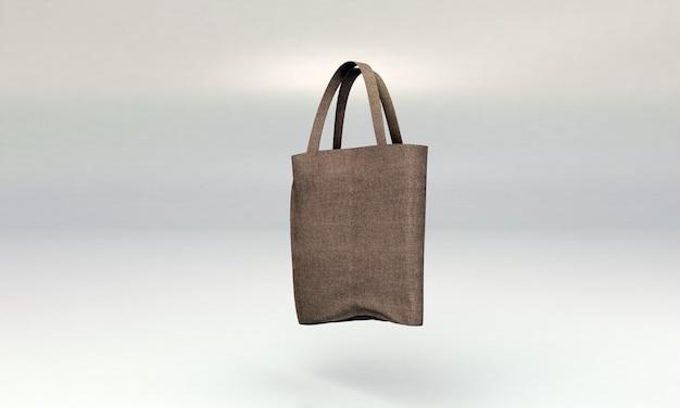 Maqueta de bolso de lona