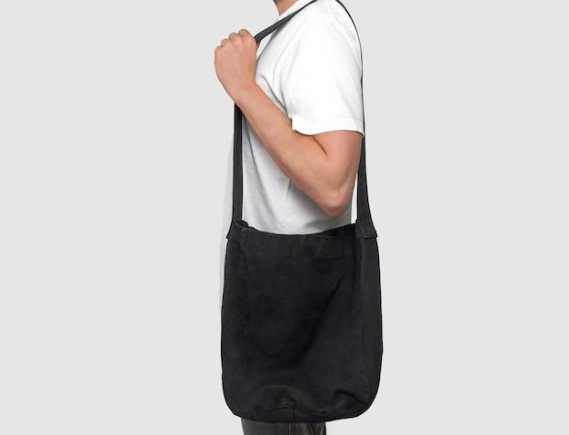 Maqueta de bolso tote negro