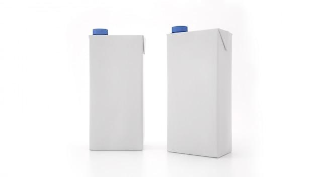 Maqueta de la botella de leche. etiqueta en blanco
