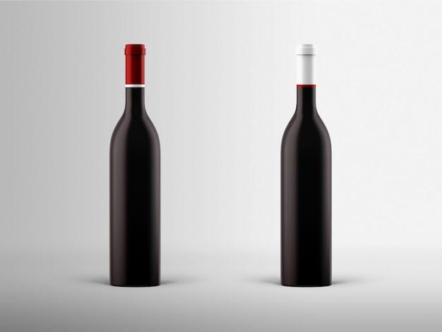 Maqueta de botellas de vino