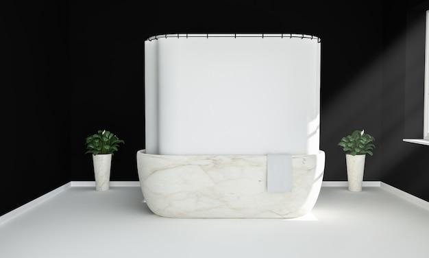 Maqueta de la cortina de ducha