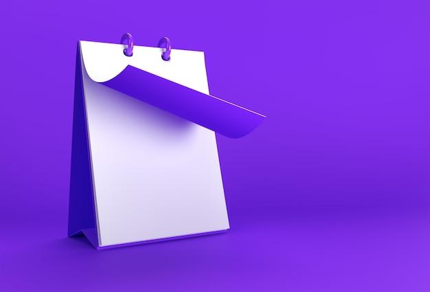 Maqueta de cuaderno de renderizado 3d mientras se gira para diseño y publicidad, ilustración 3d vista en perspectiva.