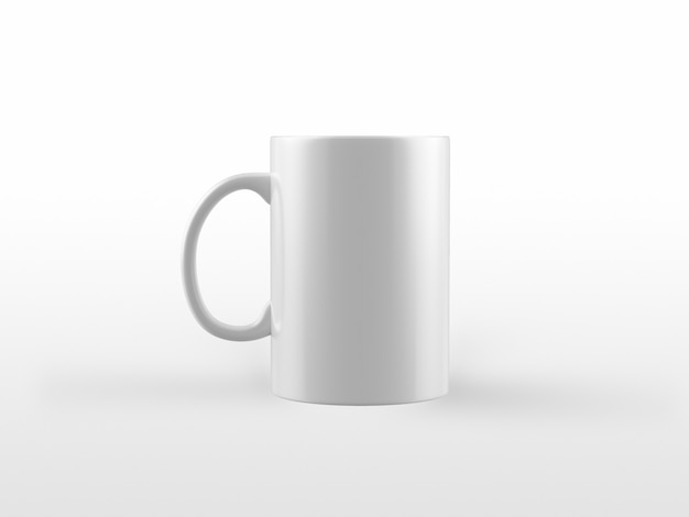 Maqueta de taza blanca
