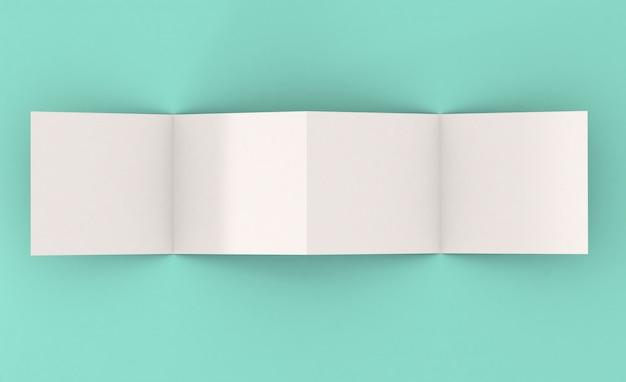 Maqueta de folleto cuadrado de cuatro páginas