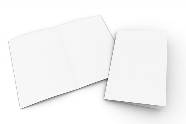 Maqueta de folleto plegado a la mitad