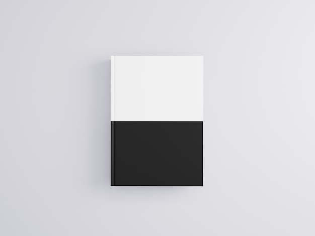 Maqueta de libro realista 3d sobre fondo blanco