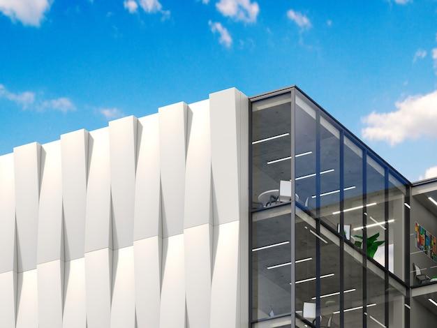 Maqueta de logotipo signo 3d edificio oficina o tienda