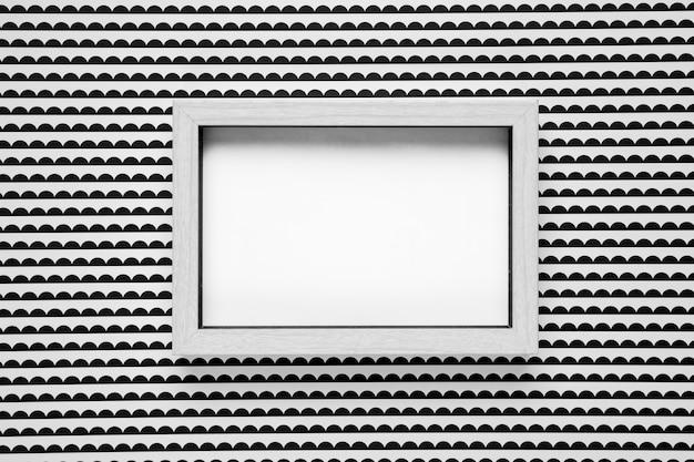 Maqueta de marco con maqueta de fondo monocromo