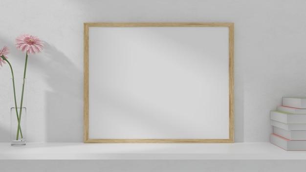 Maqueta de marco en la pared