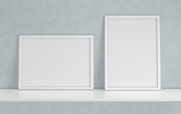 Maqueta de marco de póster con espacio de copia en blanco