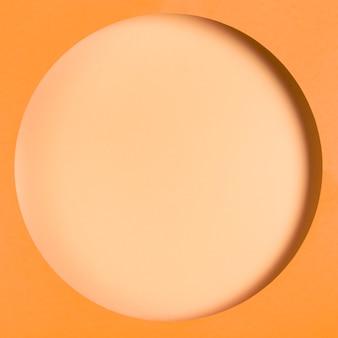 Maqueta de marco en tonos naranja