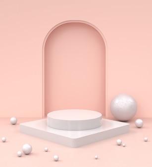 Maqueta minimalista moderna para la exhibición de podio o escaparate.