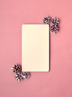 Maqueta de papel en blanco, decoraciones