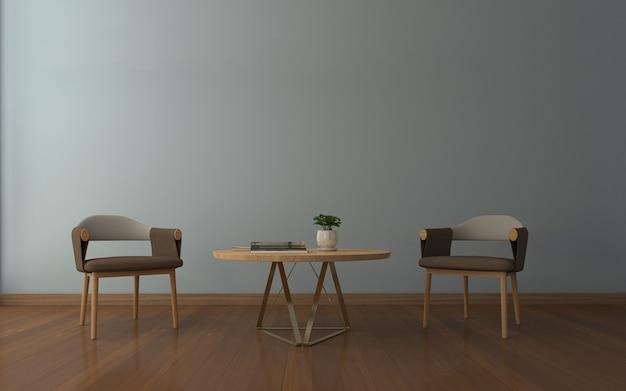 Maqueta realista de sala de estar inerior