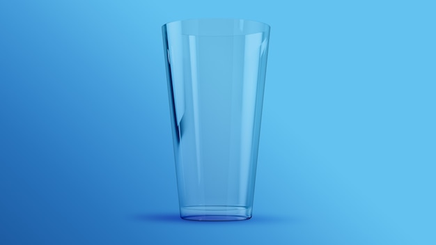Maqueta de renderizado 3d de vidrio transparente de agua