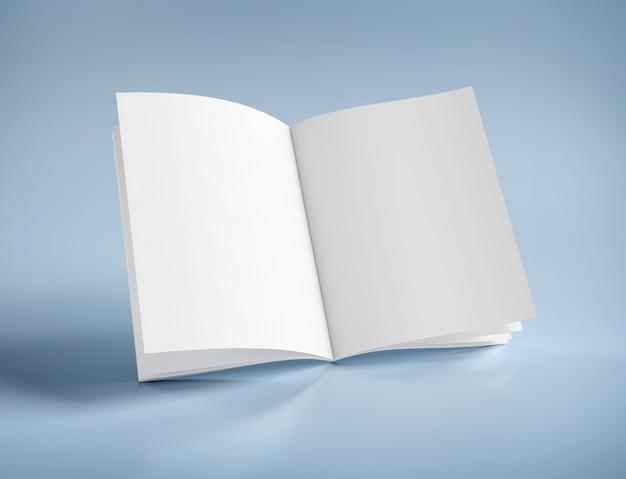 Maqueta de una revista abierta - renderizado 3d
