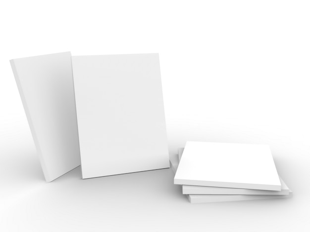 Maqueta de revista sobre fondo blanco