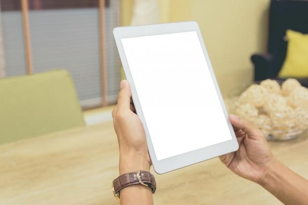Maqueta de tablet vacía de pantalla.