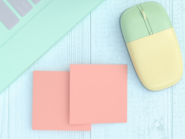 Maqueta, tarjeta de visita en blanco en el escritorio de trabajo