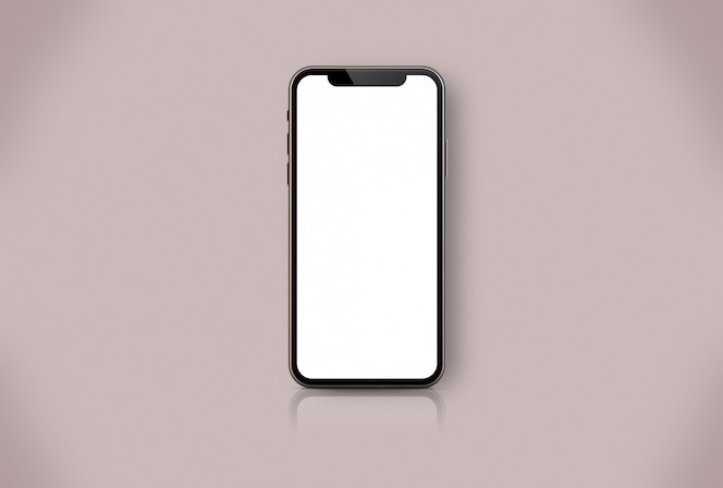 Maqueta de teléfono inteligente de oro rosa