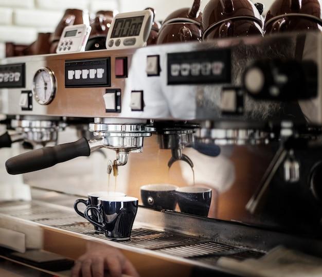 Una máquina de café