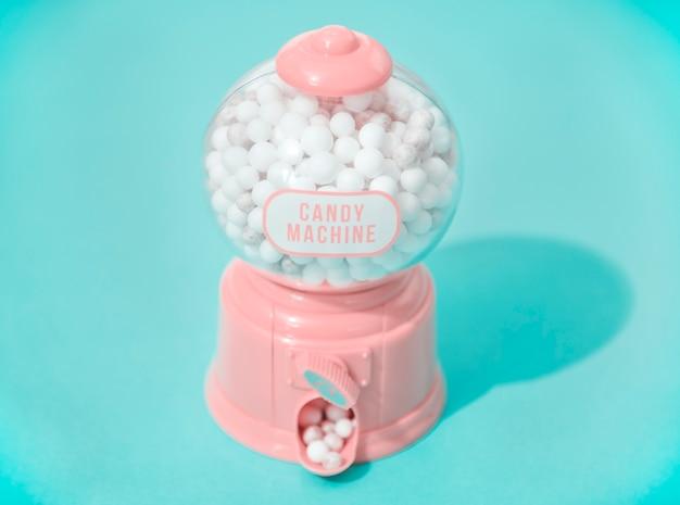 Máquina de dulces coloridos y brillantes