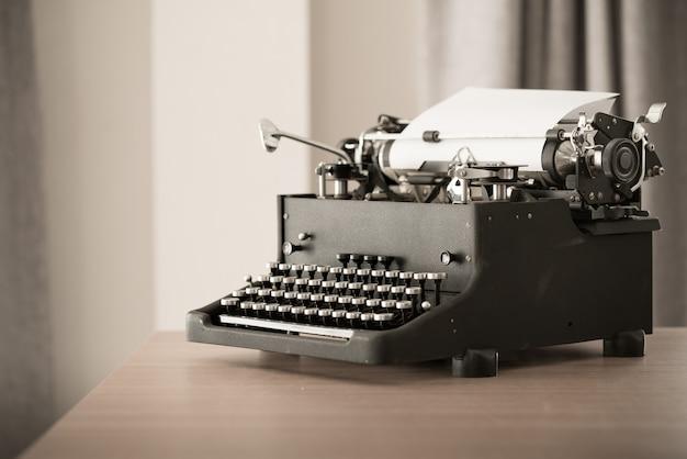 Máquina de escribir de estilo retro