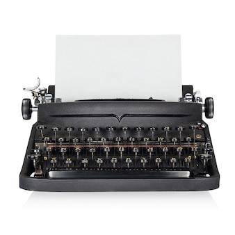 Máquina de escribir negra aislada