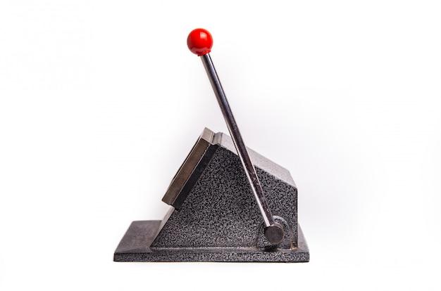 Máquina de hierro para cortar tarjetas de visita en blanco