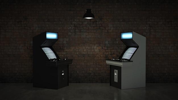 Máquina de juego de arcade vintage