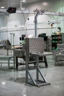 Maquinaria en fábrica de carne