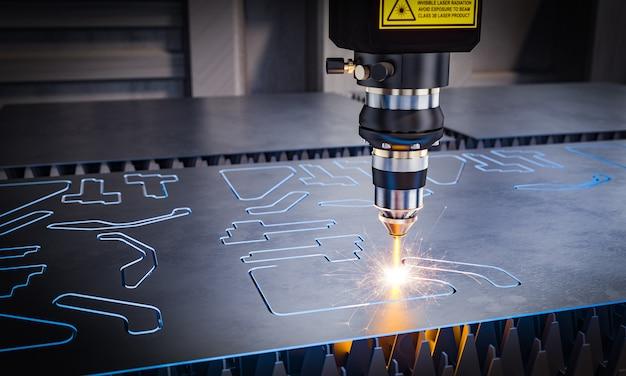 Maquinaria láser cnc para corte de metales.