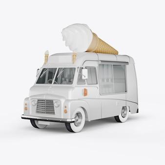 Máquinas de render 3d para helado
