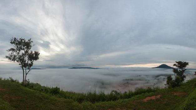 Mar de niebla, el parque nacional en tailandia