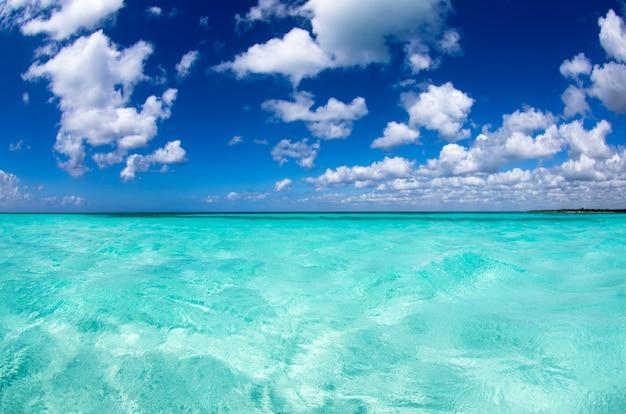 Mar tropical en un día soleado