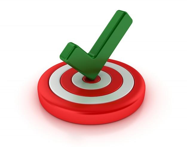 Marca de verificación 3d en el objetivo