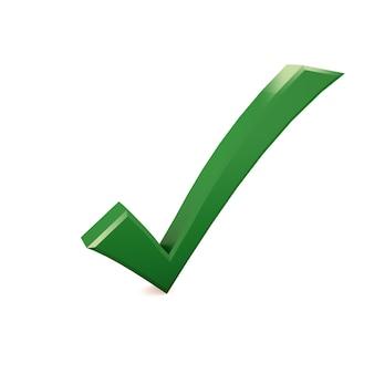 Marca de verificación en blanco aislado