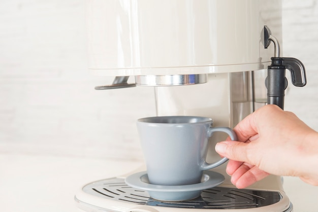 Marcador de café profesional en casa