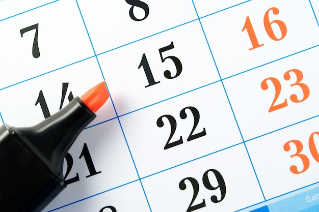 Marcador y calendario