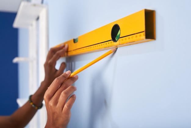 Marcando la pared